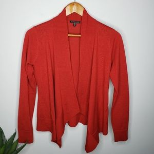 Eileen Fisher Merino Wool Cardigan in Red